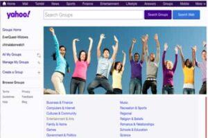 اغلاق Yahoo Groups