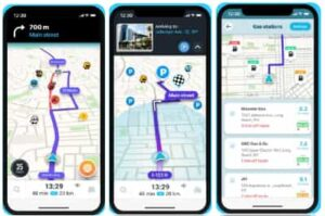 تطبيق الخرائط Waze apk